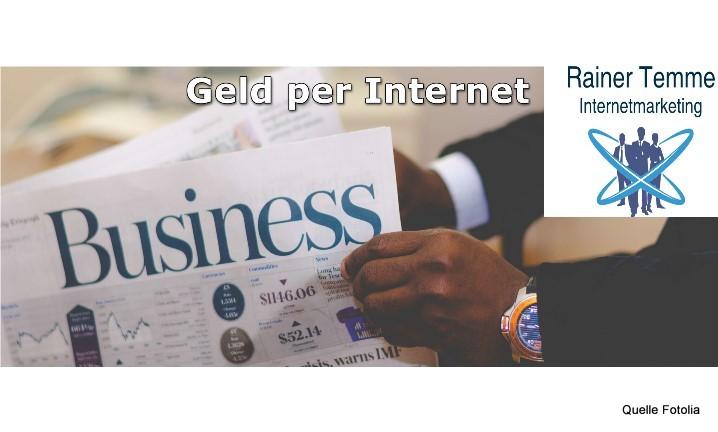 Geld per Internet